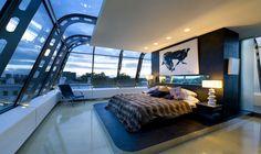 penthouse bedroom in London