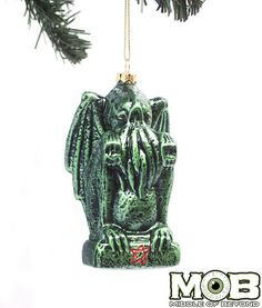 Might need this for Christmas Tree: Cthulhu Glass Ornament – Middle of Beyond