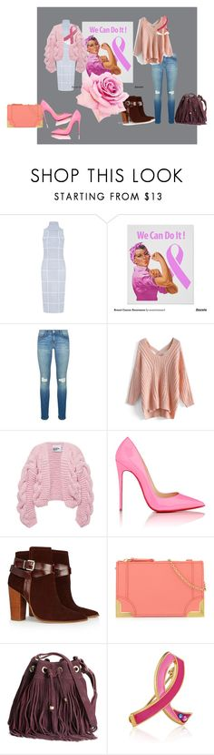 """""""Pink"""" by lizellejoseph ❤ liked on Polyvore featuring C/MEO COLLECTIVE, Rebecca Minkoff, Chicwish, I Love Mr. Mittens, Christian Louboutin, Warehouse, Foley + Corinna, H&M, Estée Lauder and Bling Jewelry"""
