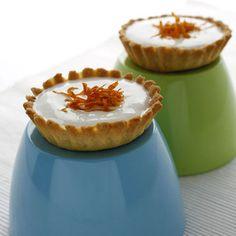 Tartaletas de queso y mandarina