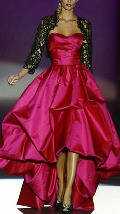 Pink Glamorous Gown with Lace Bolero ♥