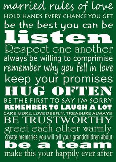 Married rules of love - brown print housewarming wedding bridal shower gift idea Marriage Relationship, Happy Marriage, Cute Relationships, Marriage Advice, Love And Marriage, Love Quotes For Him, Me Quotes, Married Life, Favorite Quotes