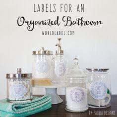 Bath and Body Organizing Labels