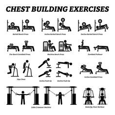Gym Workouts For Men, Workout Routine For Men, Weight Training Workouts, Gym Workout Tips, Ab Workout At Home, At Home Workouts, Fitness Exercises, Chest Exercises, Workout Programs For Men