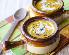 Making this next week...looks to perfect for fall! Vegan Curried Butternut Squash Soup.