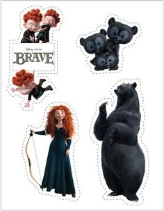 Brave Printable Stickers