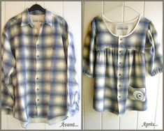 50 Ideas Sewing Clothes Men Shirt Refashion For 2019 Old Clothes, Sewing Clothes, Stylish Clothes, Diy Kleidung, Diy Vetement, Shirt Refashion, Clothes Refashion, Refashioning Clothes, Altered Couture