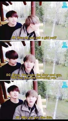 Yoongi-ah you don't ask a girl out like that