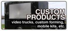 Rear Projection Screen Video Trucks, Custom-Formed Screens, Mobile Presentation Kits - Screen Solutions International