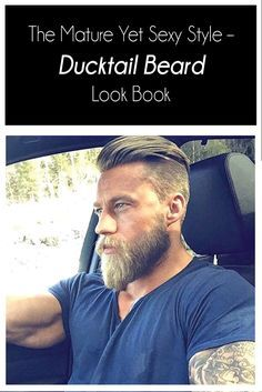 The Mature Yet Sexy Style Ducktail Beard Look Book