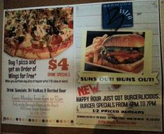 We have some new specials at The Beach.