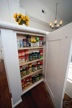 maybe good idea for unused space at the end of an island or cabinet