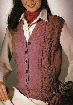 Vintage Knitting Pattern Instructions to Make Ladies Cable Waistcoat (32-46)
