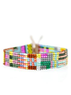 Thin Beaded Bracelet in Galapagos