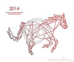 Chinese new year of the Horse triangle web shape file. by Cienpies Design / Illustrations, via Dreamstime