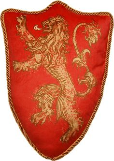 Game of Thrones House Lannister Lion Sigil Plush Pillow
