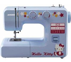12-Stitch Cute Functional Hello Kitty Sewing Machine