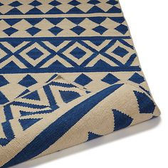 Buy John Lewis & Partners Modasa Runner Rug, Blue/White from our Rugs range at John Lewis & Partners. Free Delivery on orders over Polyester Rugs, Rug Runner, John Lewis, Hand Weaving, Blue And White, Stuff To Buy, Hall Carpet, Houses