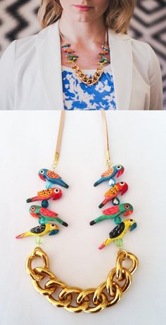 The Parrots Chain Necklace - ShhbySadie