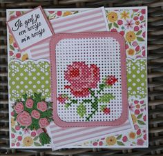 Embroidery Cards, Cross Stitch Embroidery, Cross Stitch Patterns, 123 Cross Stitch, Cross Stitch Cards, Sewing Cards, Marianne Design, Paper Tags, Card Patterns