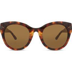 LFL393 tortoiseshell cat-eye sunglasses ($540) ❤ liked on Polyvore featuring accessories, eyewear, sunglasses, tortoiseshell glasses, lens glasses, tortoise shell cat eye sunglasses, tortoise glasses and tortoiseshell cat eye sunglasses