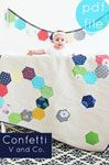 V and Co. Confetti Quilt - Downloadable Pattern [1PA-Download-VAC-CQ] - $10.00 : Pink Chalk Fabrics is your online source for modern quilting cottons and sewing patterns., Cloth, Pattern + Tool for Modern Sewists