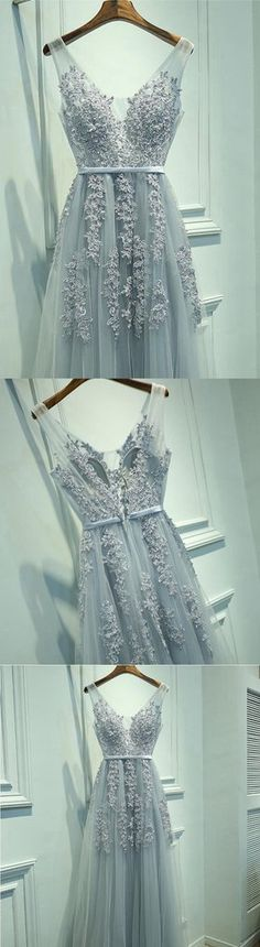 V Neckline Prom Dress Long, Prom Dresses, Graduation Party Dresses, Formal Dress For Teens, BPD0299