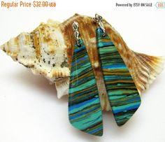 20% OFF Colorful Earrings  Jasper Gemstone by AVeryCoolEarringShop