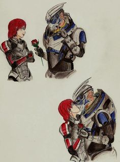 Aw Garrus - that is cute! <3