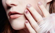 Essie lip-print manicure. Tutorial: www.imabeautygeek.com