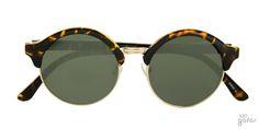 Óculos De Sol Redondo Pequeno Em Metal E Acetato || Ui! Gafas