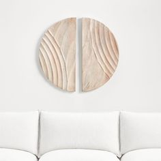 Crate And Barrel, Watercolor Rug, Wicker Pendant Light, Cushion Headboard, Bleached Wood, Wood Floor Lamp, Floor Mirror, Wood Circles, Houses
