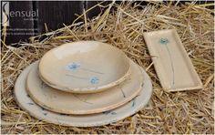 Sensual - Author ceramics workshop from Gdansk - Set of Remembrance Rrural Summer - Zestaw naczyń Wspomnienie wiejskiego lata