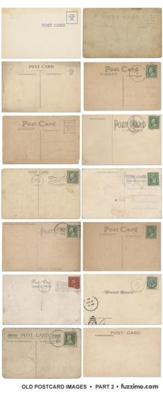 free printable - vintage post cards by celia