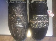 Chewbacca Star Wars Hand Painted Custom shoes optional Vans