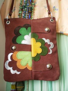 60's bag with psychedelic design