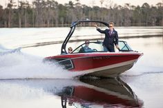 The groom entered the wedding on a speedboat for their waterfront wedding at Paradise Cove!