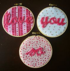 Love You So Embroidery Hoop Wall Art by cherishlovesyou on Etsy
