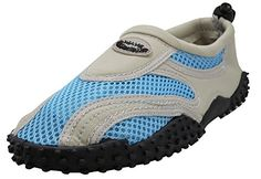 Womens Wave Water Shoes Pool Beach Aqua Socks Light GreyBlue wBlack Emblem 10 * Find out more about the great product at the image link. (This is an affiliate link)