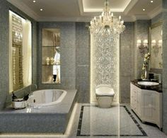 21 best bathroom chandeliers images on pinterest bathroom chic bathroom chandeliers crystal graceful antique crystal chandeliers calls old style in modern aloadofball Image collections
