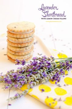 Lavender Shortbread with Lemon Cream Filling. These might be my new Christmas Cooking for 2013!