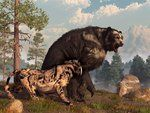 Short-faced Bear and Saber-Toothed Cat by *deskridge