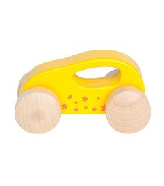 Little Auto Yellow From Hape from The Wooden Toybox