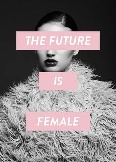 Future is female Poster in the group Prints / Sizes / 50x70cm | 20x28
