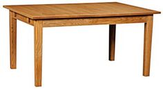 "Amish crafted legged table available in either 42"" or 48"" width.  Length options are either 60"" or 66"" long table.  Maximum 4-leaf limit with self-store options and gear slides.  (*note:  leg base remains stationary)  Solid top not available  NWP-L121"