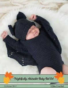 Crochet a baby's first halloween costume using this pattern from I Like Croc… – Baby knitting patterns Baby Knitting Patterns, Baby Patterns, Baby Clothes Patterns, Sewing Patterns, Knitting Magazine, Crochet Magazine, Baby First Halloween Costume, Bat Costume, Halloween Baby Clothes
