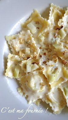 C'est ma fournée !: Raviolis gorgonzola, noix et poires