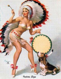 """To the Thundering Hum of the Indian Drum Sings Hiawatha! After her boyfriend sees her in this outfit, this sassy gal is sure to get a """"redskin."""""""