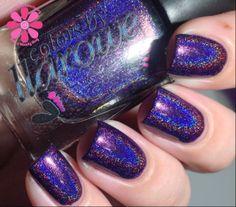 Woman from Tokyo ... deep purple holographic nail polish