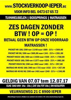 Stockverkoop matrassen Ieper -- Ieper -- 07/07-12/07